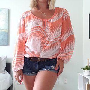 3/$30 Orange and white blouse